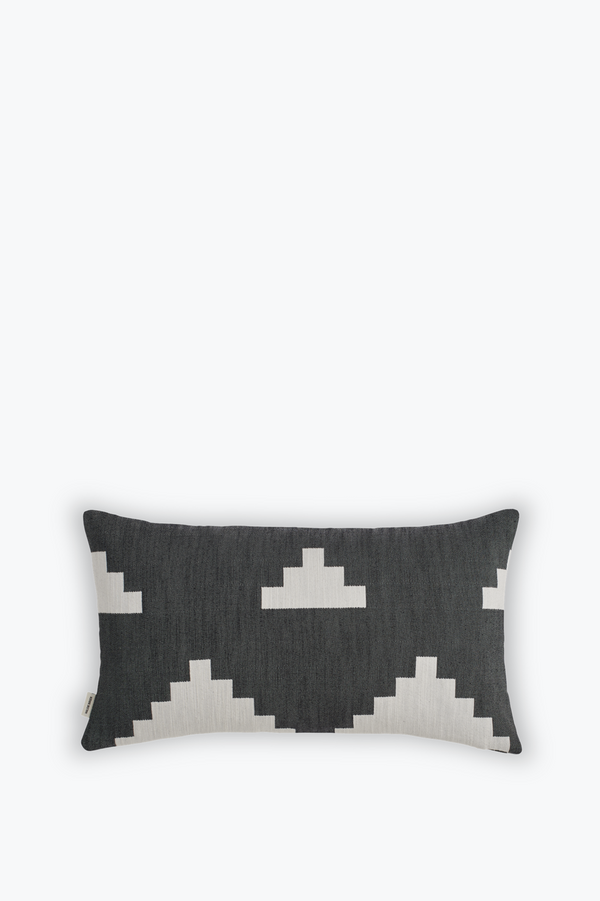 Ikat Cushion Small, Black