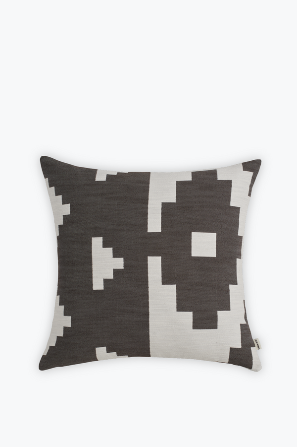 Ikat Cushion Large, Dark Brown