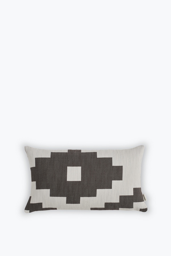 Ikat Cushion Small, Dark Brown