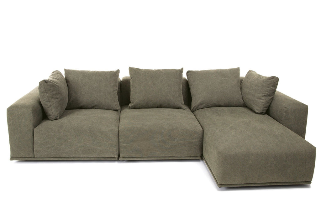 Madonna Sofa, Chaise Longue, Center & Right Arm - Green