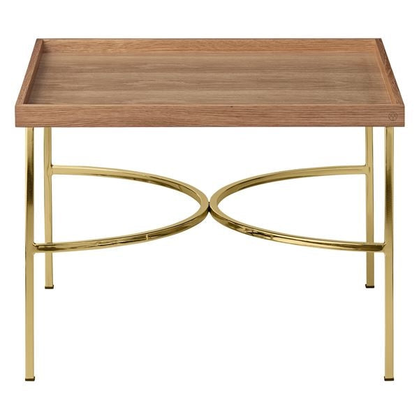 Unity Table, Oak & Gold