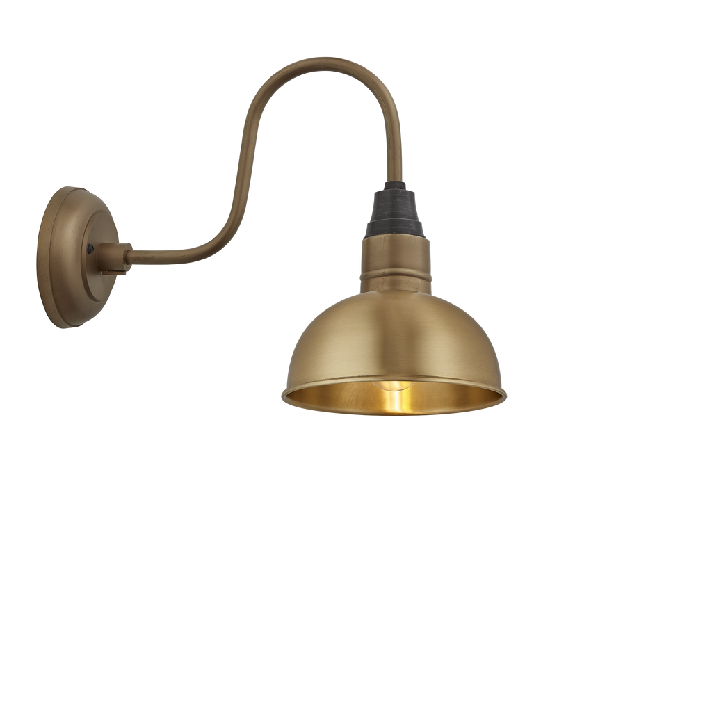 Swan Neck Dome Wall Light