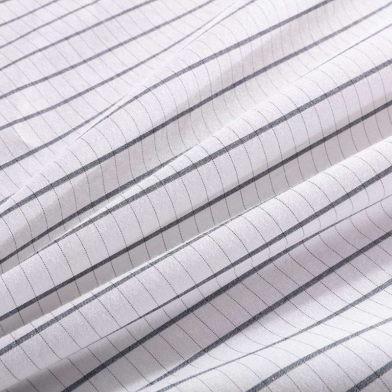 Grounding Fitted Replacement Bed Sheet Classic White With Blue Stripes