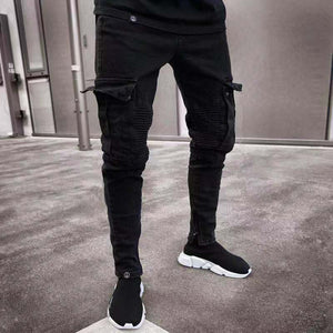 Fitted Ripped Jeans