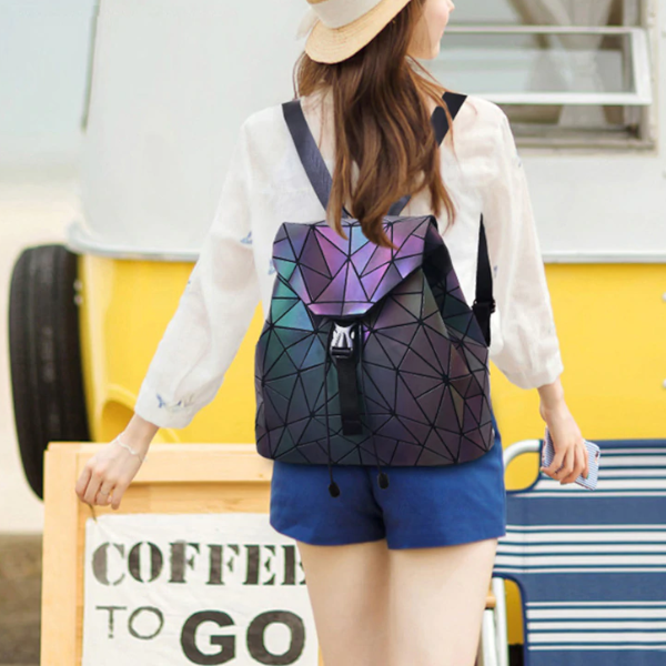 Geometric Drawstring Backpack