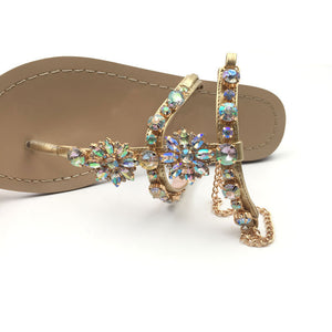 Rhinestone Chain Sandals