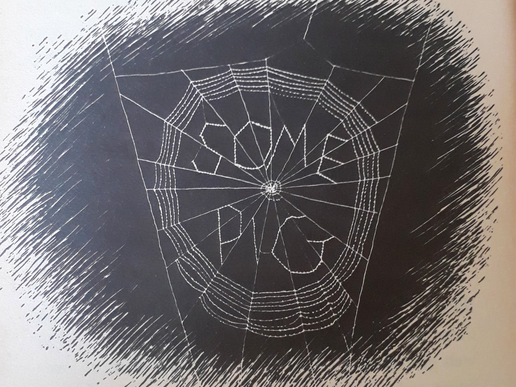 "Spot Illustration of ""Some Pig"" in Charlotte's Web by E.B White"