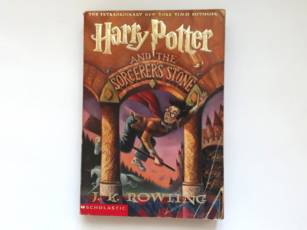 Book Cover of Harry Potter And The Sorcerer's Stone by J.K. Rowling