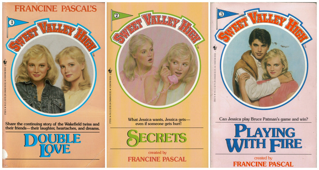 Book Covers of Sweet Valley High Books 1 - 3 by Francine Pascal