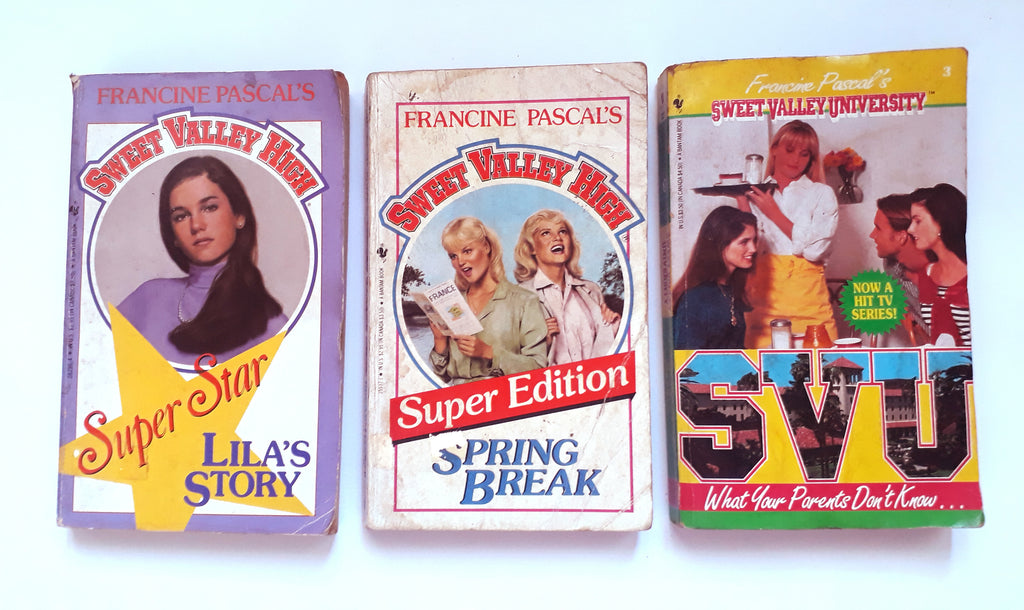 Book Cover: Sweet Valley High Super Star, Sweet Valley High Super Edition, and Sweet Valley University