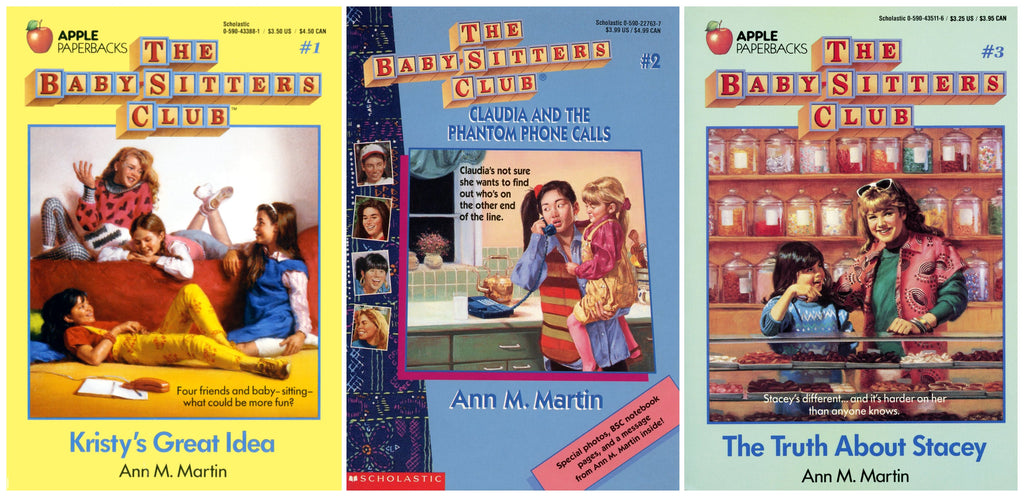 Book Covers of The Baby-Sitter's Club Books 1 - 3