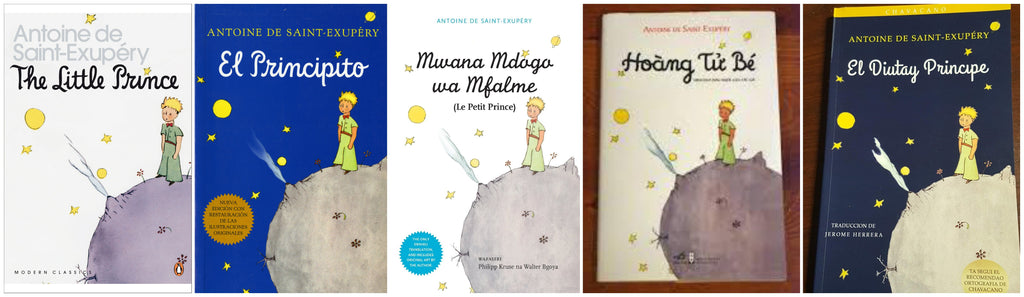 Translations to The Little Prince by Antoine de Saint-Exupery (L-F: English, Spanish, Swahili, Vietnamese, and Chavacano)