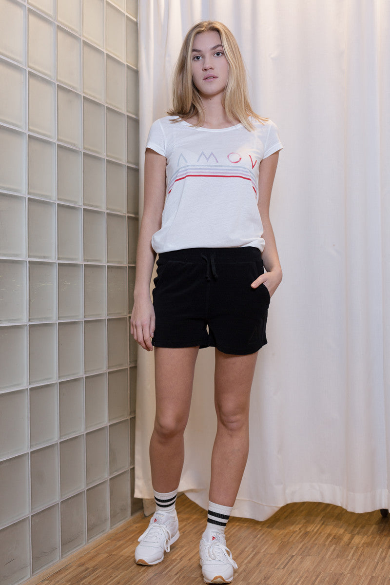 Terry Shorts for Women Black
