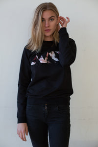 Floral Geometry Sweat Black