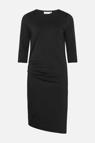 Charlot Slub Dress Black