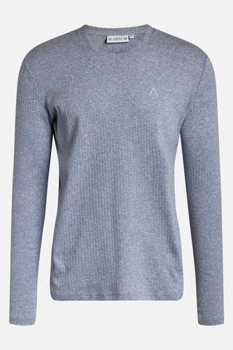 Chet Rib LS Tee Light Grey Melange