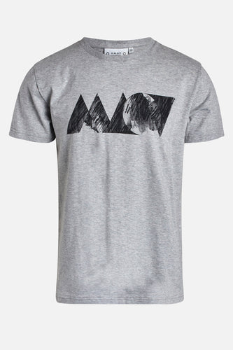 Adam Sketch Tee Light Grey Melange
