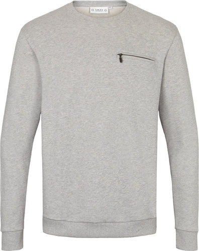 Anker Zip Pocket Sweat Light Grey Melange