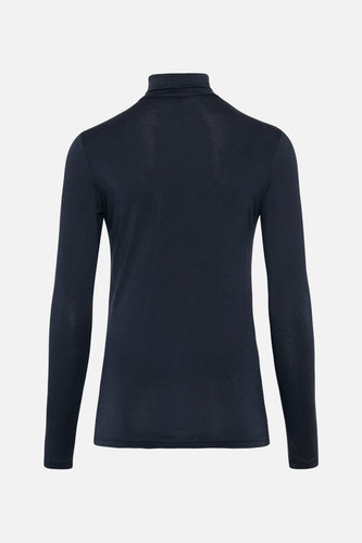 Coco Tencel Roll Neck Mood Indigo