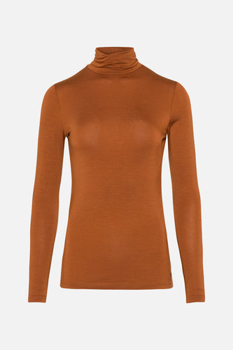 Coco Tencel Roll Neck Amber