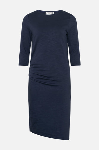 Charlot Slub Dress Mood Indigo