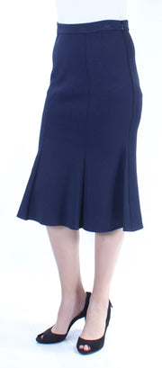 Navy Below The Knee Mermaid Skirt