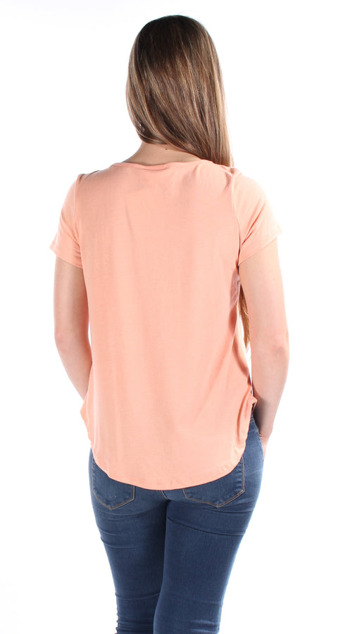 Orange Don't grow up it's a trap Cap Sleeve Scoop Neck Hi-Lo