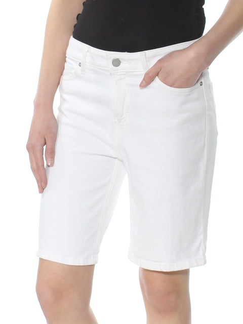 White Bermuda Short