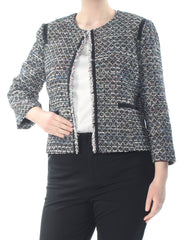 Black Pocketed Speckle Bolero Wear To Work Jacket