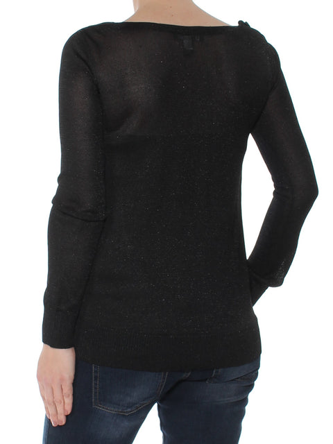 Black Long Sleeve Scoop Neck Top