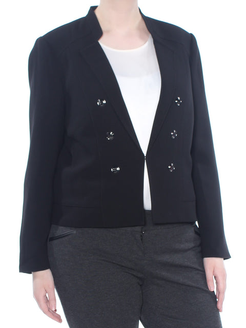 Black Embellished Wear To Work Jacket