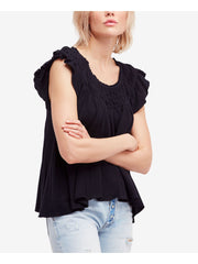 Ivory Ruffled Off Shoulder Top