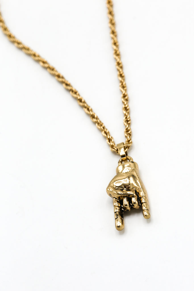 Rock on pendant