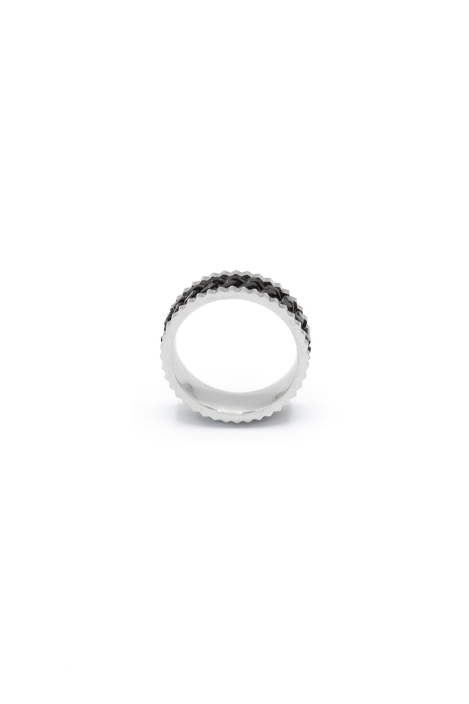 Black Chain Band ring