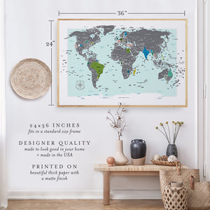 Premium Designer Scratch Off Travel Map