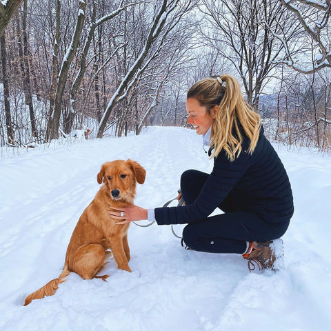 Molly Lohman pro-volleyball player styles THE BREAK /// Active Rings on her snowy Minnesota adventures!