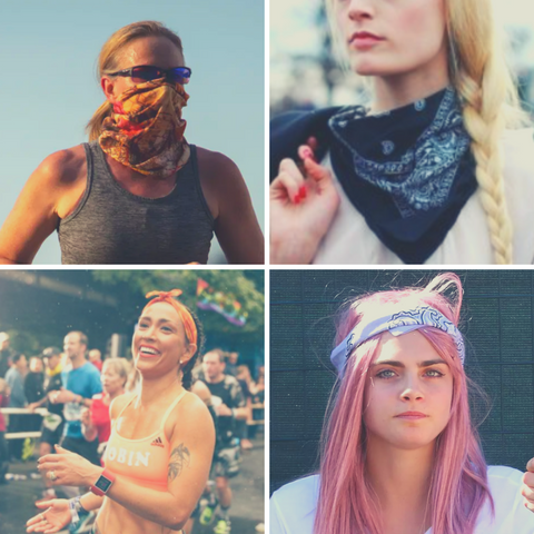 Style inspiration for THE BANDY - our new Seamless Active Bandana - wear as a gaiter or a headband