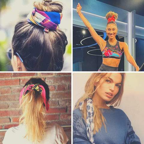Style inspiration for THE BANDY - our new Seamless Active Bandana - style as a hair accessory