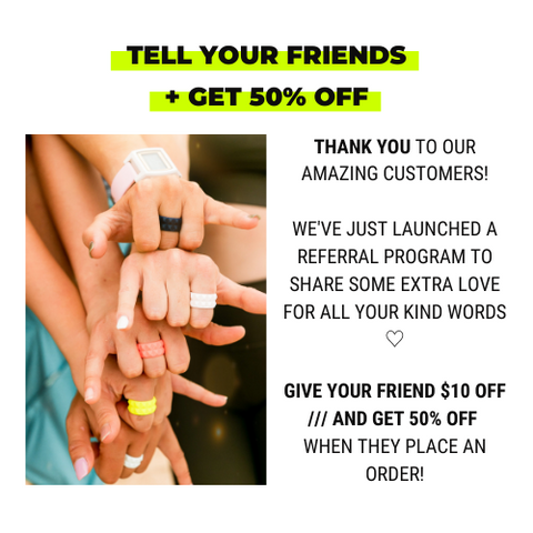 THE BREAK /// REFER A FRIEND GET 50% OFF YOUR NEXT ORDER