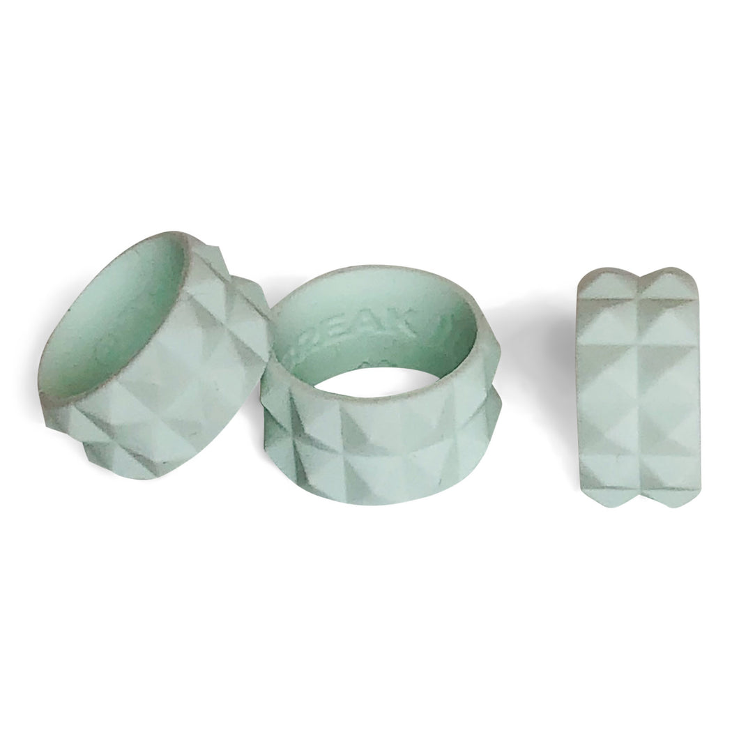 WOMENS ACTIVE SILICONE RING IN SURFY (PISTACHIO MINT AQUA) BY THE BREAK ACTIVE RINGS & ACCESSORIES
