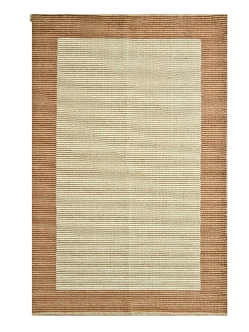 BROWN_BORDER (70 X 130 CM) - BROWN