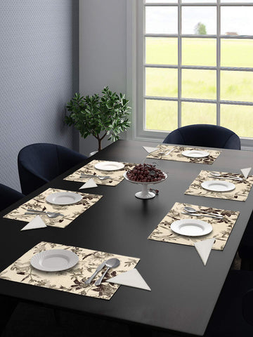 Saral Home Cotton 6 Pieces Table Mat -34x45 cm(with 6 Free Cotton Napkins)