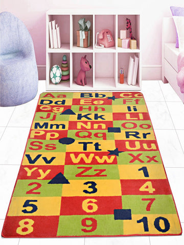 Saral Home Green Soft Microfiber Kids Carpet 3x5 Feet / 90x150 cm