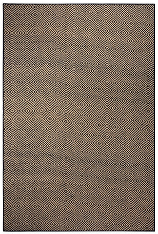 Saral Home Modern Carpet (Black, Cotton, 4 X 6)