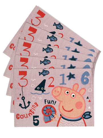 Peppa-pig multi-purpose cotton mats ( 50x70cm, 5pc )