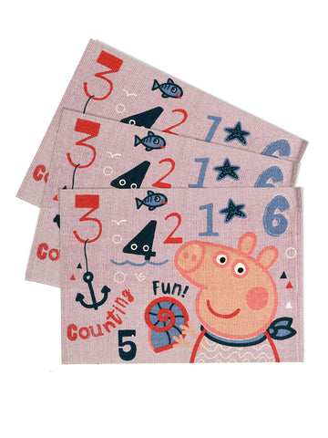 Peppa-pig multi-purpose cotton mats ( 50x70cm, 3pc )
