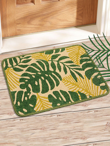 Combo of 2 Pc Leaf Design Jute Mat (SOC-160-40*60CM)