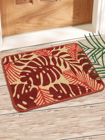 Combo of 2 Pc Leaf Design Jute Mat (SOC-163-40*60CM)