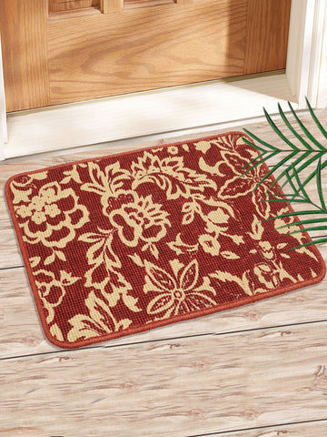 Combo of 2 Pc Leaf Design Jute Mat (SOC-165-40*60CM)