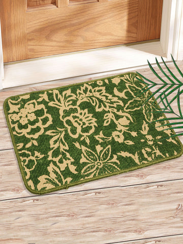 Combo of 2 Pc Leaf Design Jute Mat (SOC-166-40*60CM)